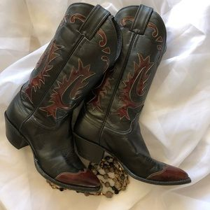 Vintage Justin Cowboy Boots Made In USA